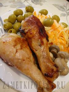 Куриные голени в имбирно-медовом маринаде