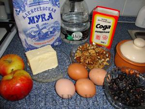 Яблочно-смородиновый пирог