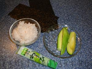 Хосомаки с авокадо
