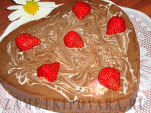 """Десерт """"Клубника в шоколаде"""""""