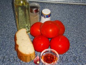 Гаспачо с крутонами (испанская кухня)