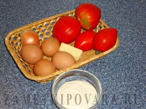 Закуска из помидор и яиц