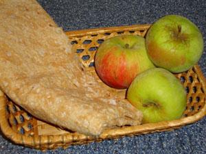 Хрустящие конвертики из лаваша с яблоками