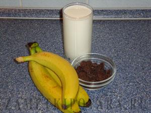Шоколадно-банановое молоко
