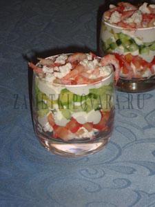Веррин с креветками, авокадо и фетой