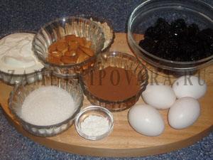 Печенье с черносливом и миндалем