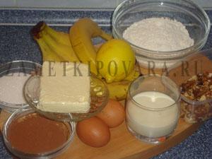Банановое пирожное