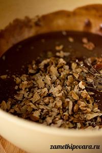 Постная медовая коврижка с грецкими орехами