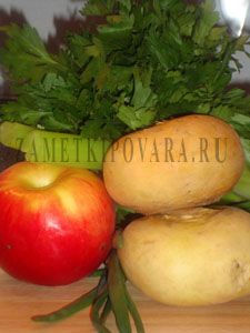Салат из репы с яблоками и сельдереем