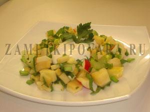 Салат из репы с яблоками и сельдерем