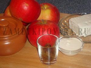 Яблоки, запеченные с творогом