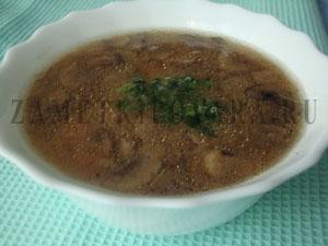 Мисо суп с грибами