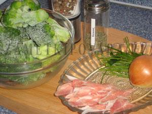 Суп-пюре из брокколи с мясом