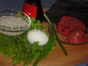 Футомаки с говядиной и омлетом