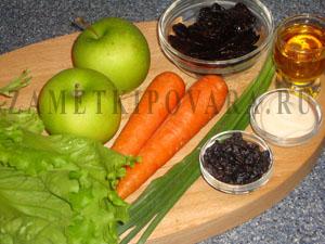 Салат листовой с фруктами