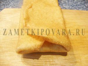 Блины с плавленным сыром