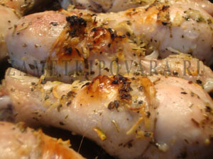 Курица в духовке с прованскими травами