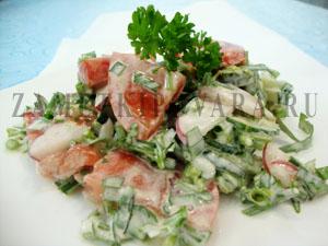 Салат овощной с эстрагоном