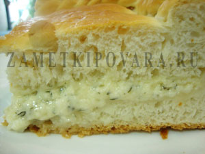 Пирог с брынзой и творогом