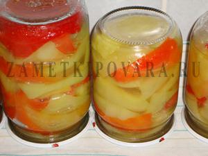 Перец, маринованный с медом