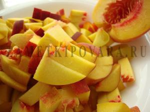 Тарт с персиковым желе