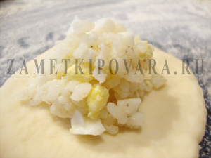 Пирожки с яйцом и рисом