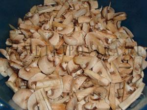 Вертута с картошкой и грибами