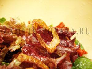 Салат с сыром фета и вялеными помидорами