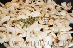 Омлет с грибами