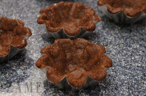 Шоколадные песочные тарталетки