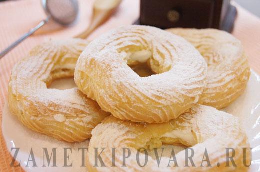 рецепт пирожных с творожным кремом