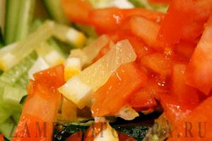 Диетический салат Цезарь