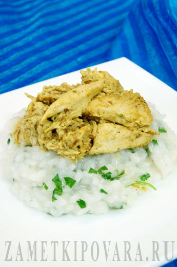 Отварная курица с соусом карри