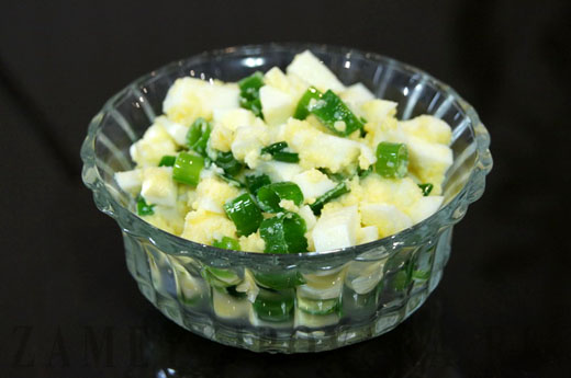 рецепты салатов с кальмарами и луком
