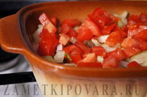 Запеканка из гречки с тушенкой и грибами