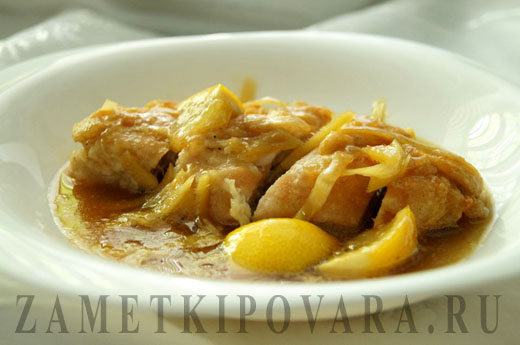 Запеченое куриное филе под имбирным соусом