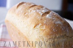 Белый хлеб на минеральной воде