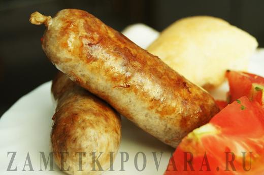 Домашние свиные колбаски