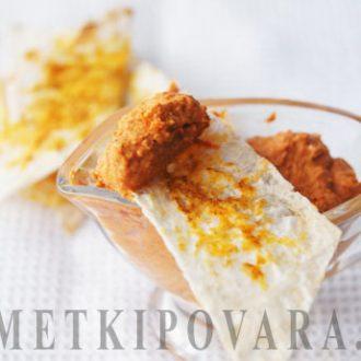 Дип из печеного болгарского перца с грецкими орехами