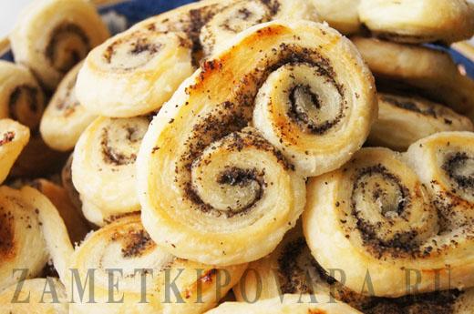 Печенье Ушки с маком и сахаром