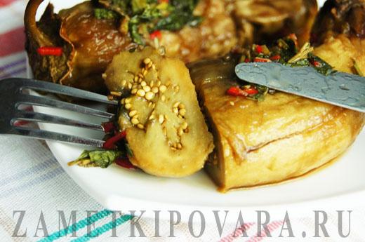 Маринованные баклажаны с чесноком и мятой