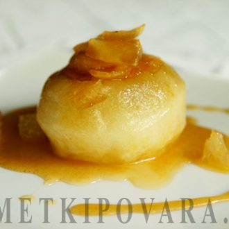 Карамелизованные яблоки с медом