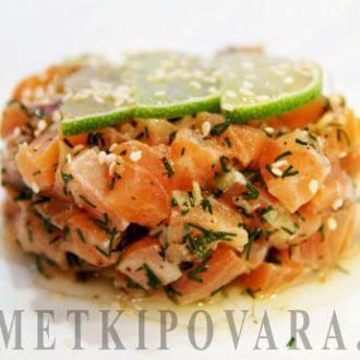 Тар-тар из лосося или семги
