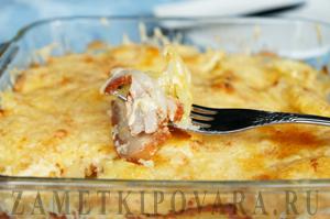Гратен из картофеля и грудинки