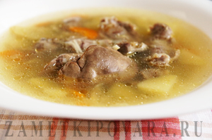 Суп из куриных потрохов