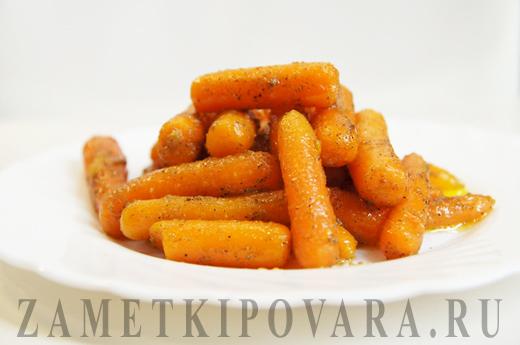 Глазированная морковь со специями