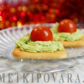 Закуска из авокадо с помидорками черри