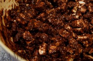 Шоколадный батончик с зефиром и печеньем