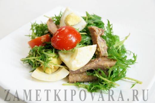 Китайский салат из свиного языка