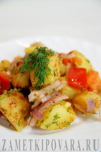 Салат из картофеля с болгарским перцем